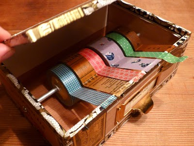 Cathe Holden's Cigar Box Tape Dispenser